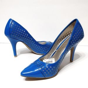 NEW Christian Siriano Blue Heels